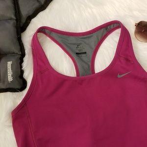 Nike Fuschia Dri Fit Racerback Tank Sz M